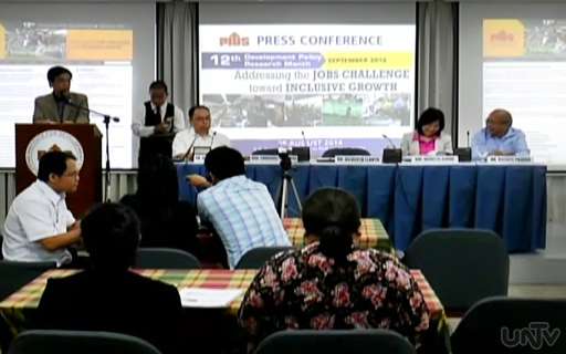 "Ang makahanap ng solusyon sa problemang tinatawag na ""jobless growth"" sa bansa ang layunin ng inilunsad na 12th Development Research Month ng Philippines Institute of Development Studies o PIDS (UNTV News)"